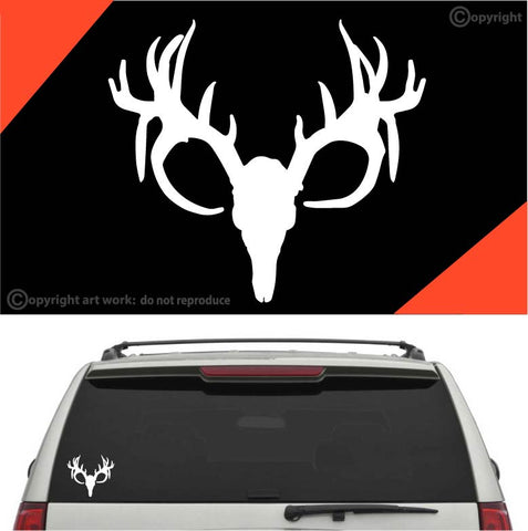 Deer Head Decal Car Sticker #A1 Custom Car Decals Car Stickers