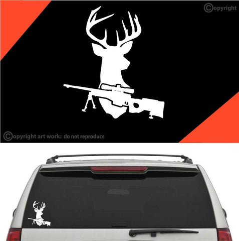 Deer Rifle Hunting Decal Car Sticker #A1 Custom Car Decals Car Stickers