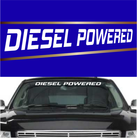 Diesel Powered Windshield Banner Decals Custom Car Decals Car Stickers