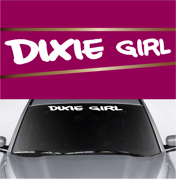 Dixie girl custom windshield lettering decals