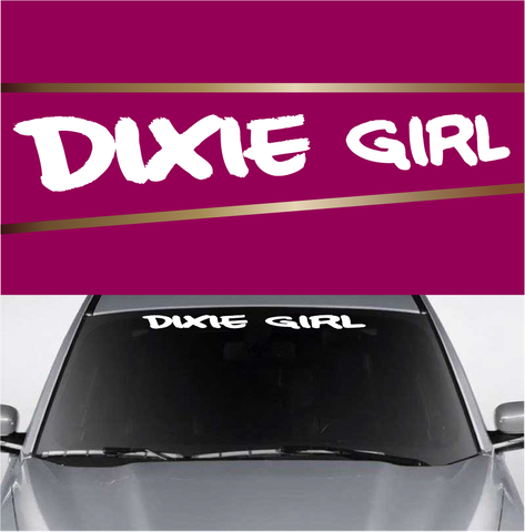 Dixie Girl Custom Windshield Lettering Decals Custom Car Decals Car Stickers