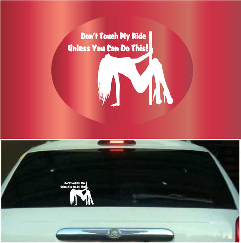 Don't Touch My Ride | Car Decals Custom Car Decals Car Stickers