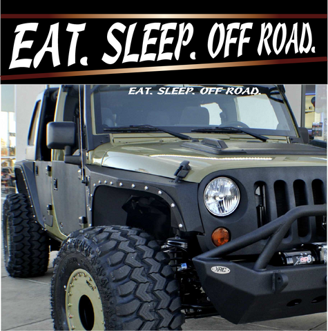 Eat Sleep Off Road 4x4 Off Road Decals Custom Car Decals Car Stickers