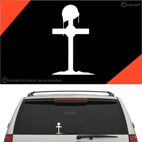 Fallen Soldier Cross Car Sticker Decal Custom Car Decals Car Stickers