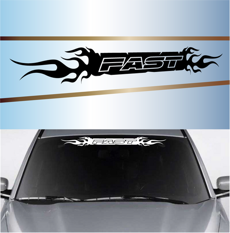 Fast Flames Windshield Banner Decals Custom Car Decals Car Stickers