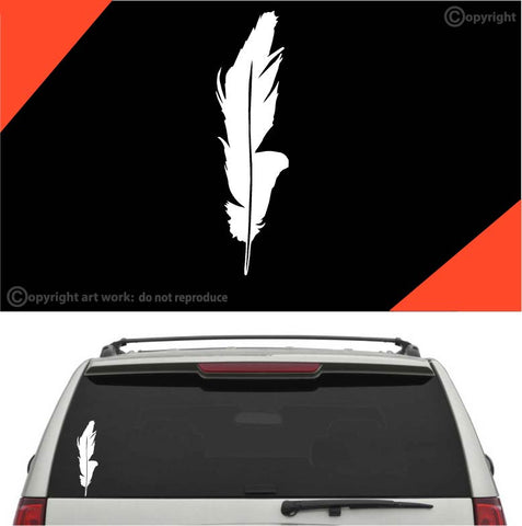 Feather Auto Decal Car Sticker #A1 Custom Car Decals Car Stickers