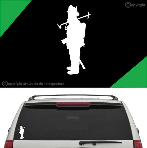 Firefighter Auto Decal Car Sticker A1 Custom Car Decals Car Stickers