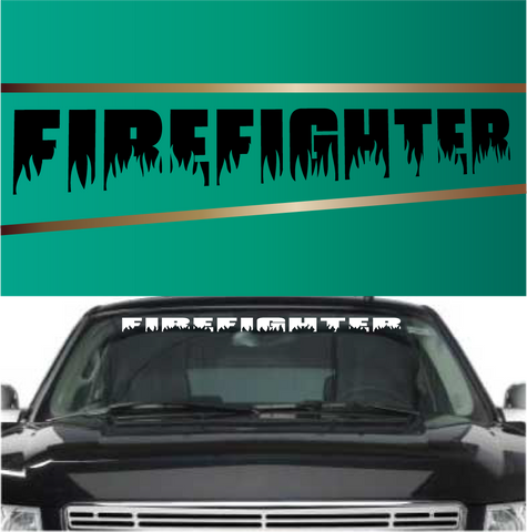 Firefighter Windshield Banner Custom Car Decals Car Stickers