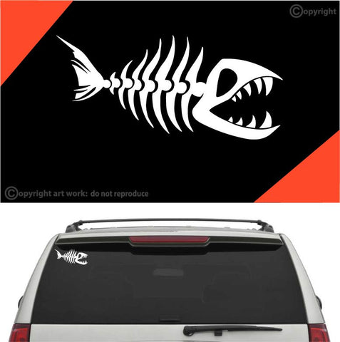 Fish Bone Car Sticker Decal #A1 Custom Car Decals Car Stickers