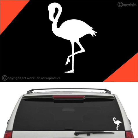 Flamingo Decal Car Sticker #A1 Custom Car Decals Car Stickers