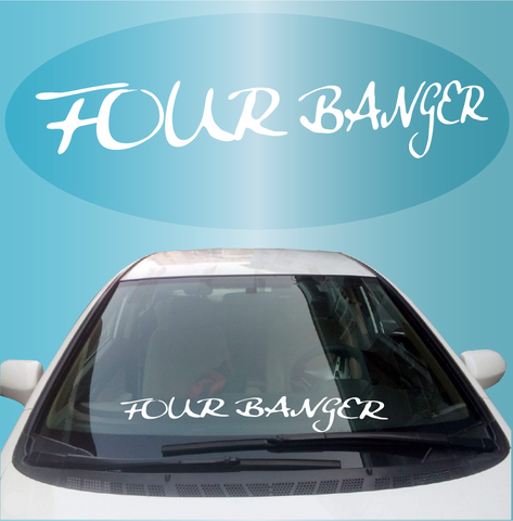 Four Banger JDM Windshield Decal Banner Custom Car Decals Car Stickers
