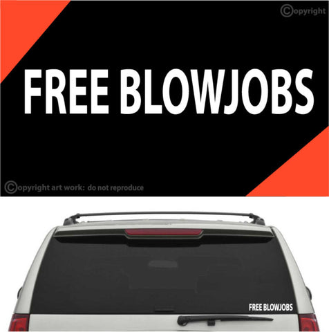 Free Blowjobs Decal Car Sticker Custom Car Decals Car Stickers