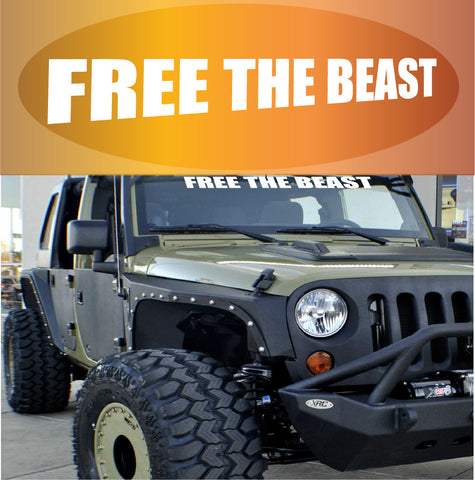 Free The Beast Windshield Decal Custom Car Decals Car Stickers
