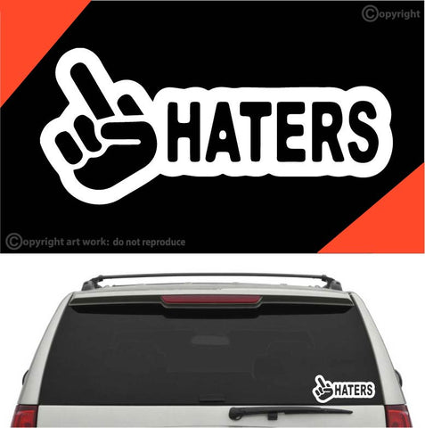 Fuck haters auto decal car sticker custom car decals car stickers