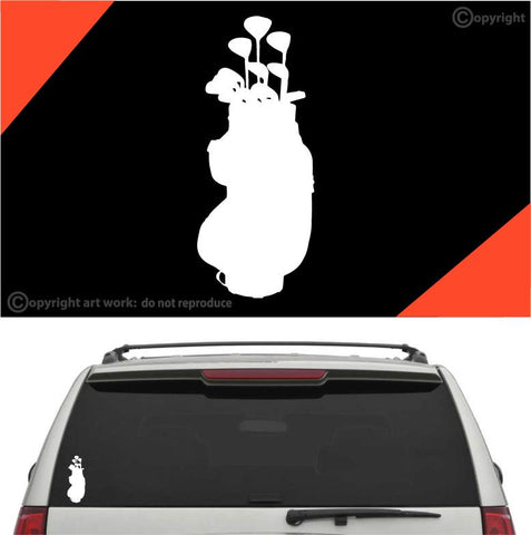 Golf Bag Golf Decal Car Sticker Custom Car Decals Car Stickers