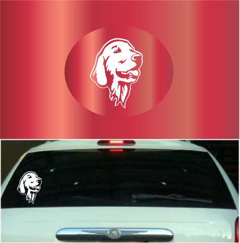 Golden Retriever Window Car Decal Custom Car Decals Car Stickers