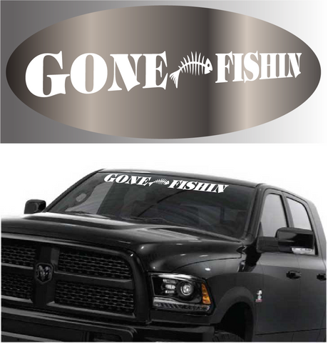 Gone Fishin Windshield Decal Custom Car Decals Car Stickers