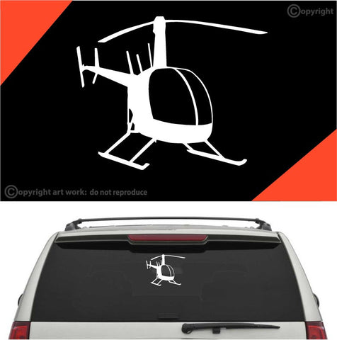 Helicopter Auto Decal Car Sticker A1 Custom Car Decals Car Stickers