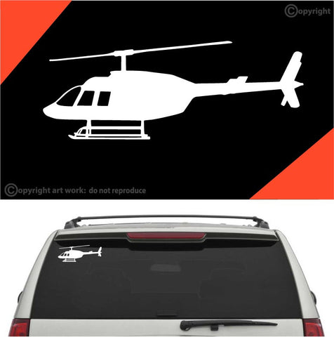 Helicopter Car Sticker Auto Decal A2 Custom Car Decals Car Stickers
