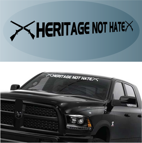 Heritage Not Hate Civil War Custom Windshield Banner Decal Custom Car Decals Car Stickers