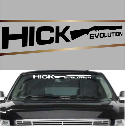 Hick Evolution Custom Auto Decals Windshield Banners Custom Car Decals Car Stickers