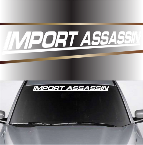 Import Assassin Windshield Vinyl Auto Decals Windshield Banner Custom Car Decals Car Stickers