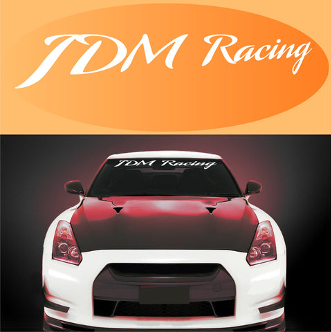 JDM Racing Decal Windshield Banner Custom Car Decals Car Stickers