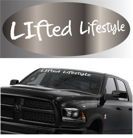 Lifted lifestyle windshield banner auto decal sticker custom car decals car stickers