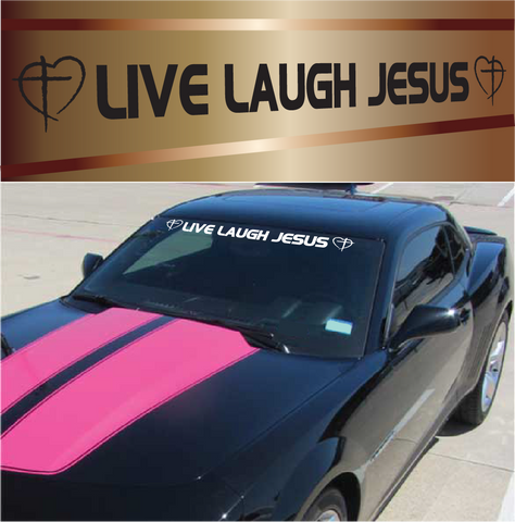 Live Laugh Jesus Customized Jesus Decal Auto Window Sticker Custom Car Decals Car Stickers