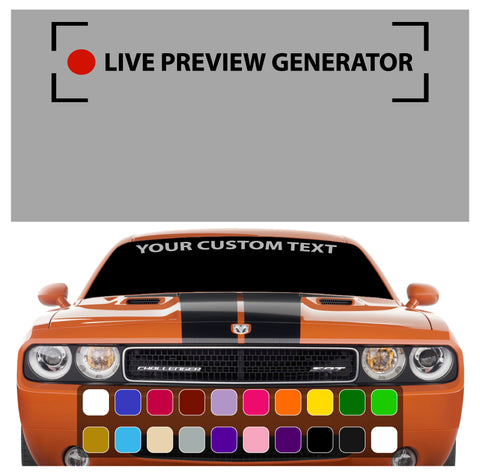 Create Windshield Banner Decal Custom Car Decals Car Stickers