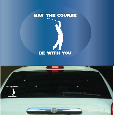 May the course be with you car decals custom car decals car stickers