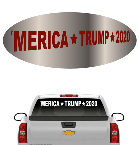 'Merica Trump 2020 Donald Trump Windshield Banner Car Decal Custom Car Decals Car Stickers