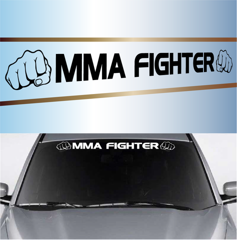 MMA Fighter Cool Windshield Decal Custom Car Decals Car Stickers