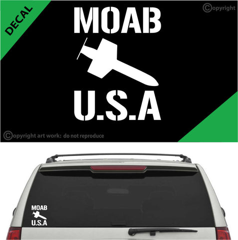 MOAB (Mother Of All Bombs) Auto Decal Car Sticker Custom Car Decals Car Stickers