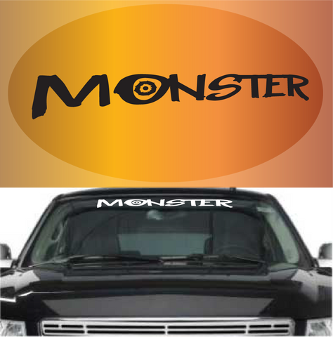 Monster Custom Windshield Decal Custom Car Decals Car Stickers