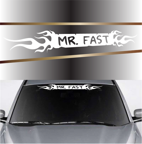 Mr. Fast Flames Customized Windshield Decal Custom Car Decals Car Stickers