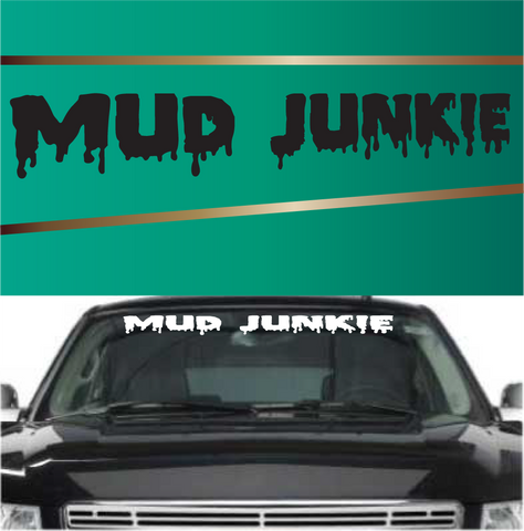 Mud Junkie 4x4 Off Road Decals Windshield Banners Custom Car Decals Car Stickers