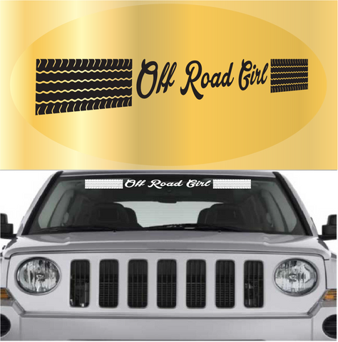 Off Road Girl Auto Decal Off Road Decal Custom Car Decals Car Stickers
