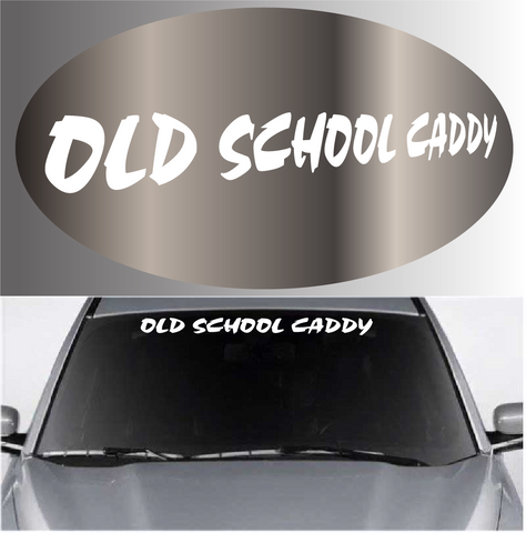 Old School Caddy Auto Decal Windshield Banner Custom Car Decals Car Stickers