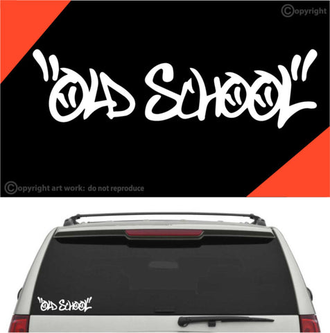 Old School Decal Car Sticker Custom Car Decals Car Stickers