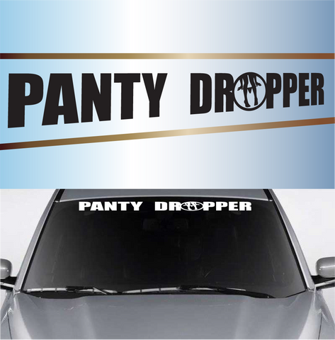 Panty Dropper Funny Windshield Decal Custom Car Decals Car Stickers