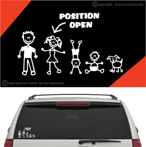 Position Open Stick Figure Family Auto Decal Car Sticker Custom Car Decals Car Stickers