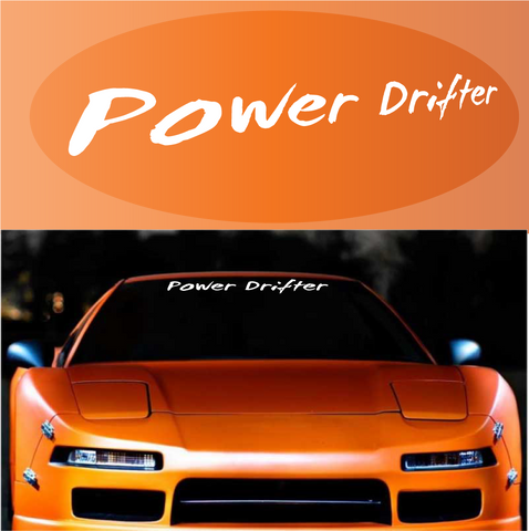 Power Drifter JDM Windshield Banner Custom Car Decals Car Stickers