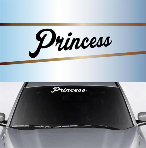 Princess Windshield Vinyl Decal Windshield Banner Custom Car Decals Car Stickers