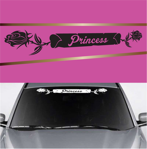 Princess Rose Heart Custom Auto Decal Custom Car Decals Car Stickers