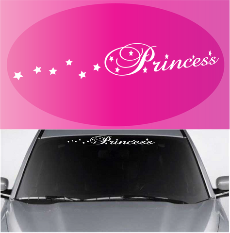 Princess Window Decal Windshield Banner Custom Car Decals Car Stickers