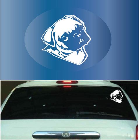 Cute Pug | Car Decals Custom Car Decals Car Stickers