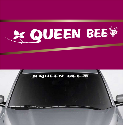 Queen Bee Custom Car Windshield Decal Custom Car Decals Car Stickers