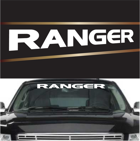 Ranger Windshield Banner Custom Vinyl Lettering Custom Car Decals Car Stickers