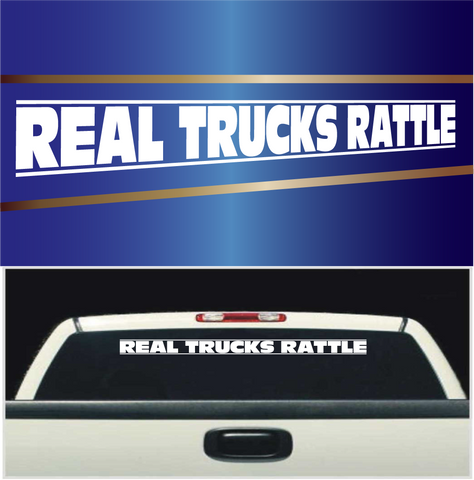 Real Trucks Rattle Windshield Banner Vinyl Lettering Decals Custom Car Decals Car Stickers